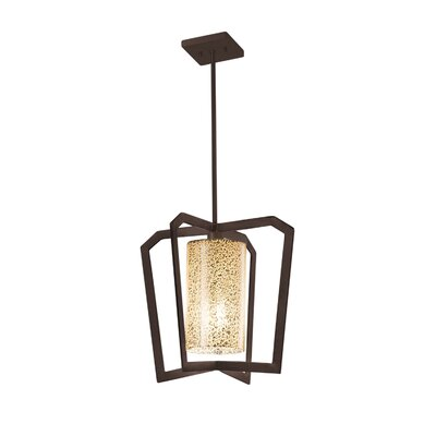 Luzerne Intersecting 1-Light Foyer Pendant Finish: Dark Bronze