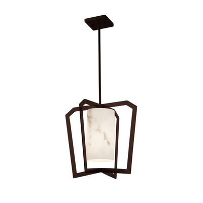 Keyon 1-Light Foyer Pendant Base Finish: Dark Bronze