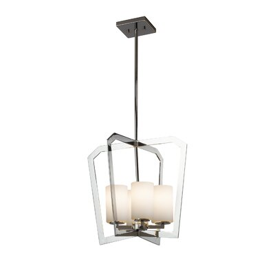 Luzerne Intersecting 4-Light LED Foyer Pendant Finish: Matte Black