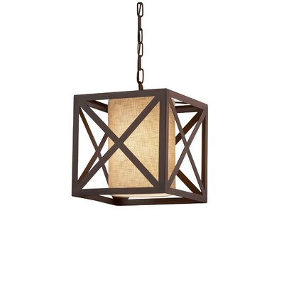 Kenyon Foyer Pendant Finish: Dark Bronze, Shade Color: Cream