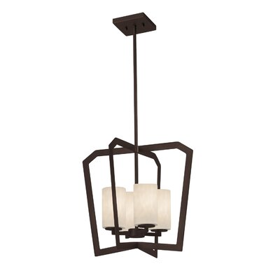 Genaro 4-Light Intersecting Foyer Pendant Finish: Dark Bronze