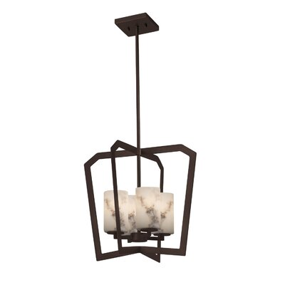 Keyon 4-Light Foyer Pendant Base Finish: Dark Bronze