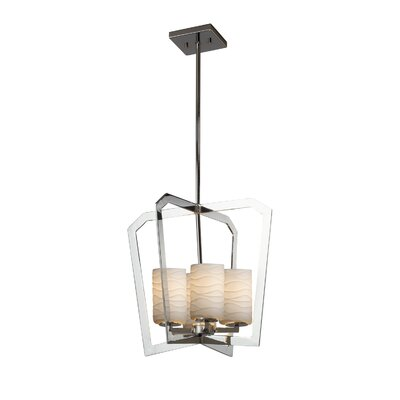 Darrien Intersecting 4-Light LED Foyer Pendant Finish: Brushed Nickel