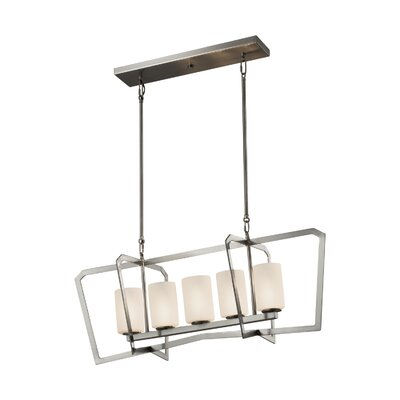 Luzerne 5-Light Kitchen Island Pendant Base Finish: Brushed Nickel