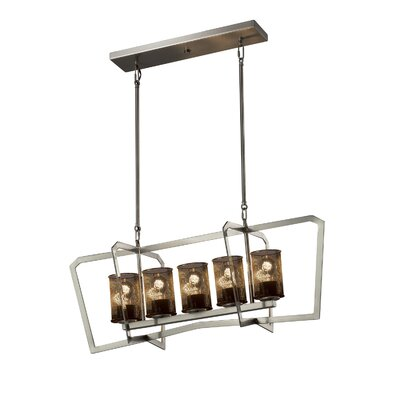 Crosland 5-Light LED Kitchen Island Pendant Finish: Brushed Nickel