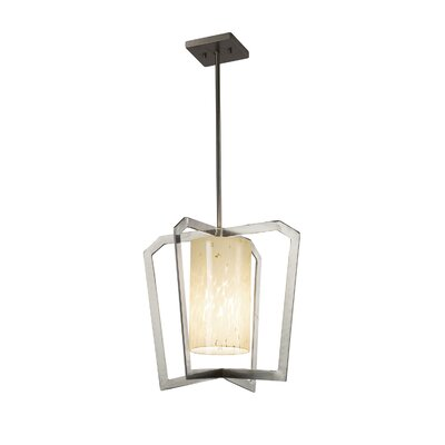 Luzerne Intersecting 1-Light 9W LED Foyer Pendant Finish: Matte Black