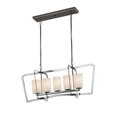 Genaro Intersecting 5-Light Kitchen Island Pendant Finish: Polished Chrome