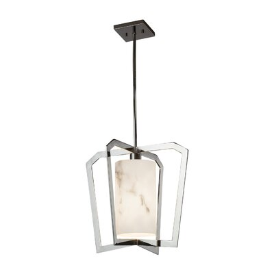 Keyon 1-Light Foyer Pendant Base Finish: Polished Chrome