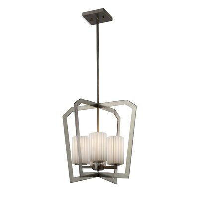 Darrien Intersecting 4-Light 36W Foyer Pendant Finish: Brushed Nickel