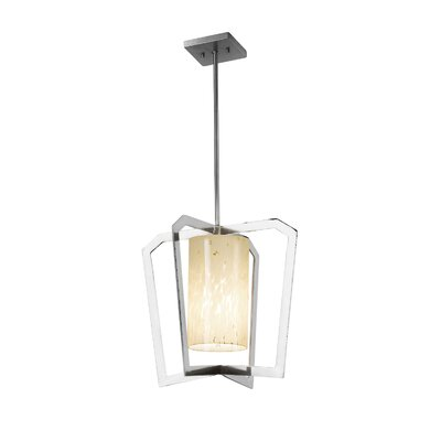 Luzerne Intersecting 1-Light 9W LED Foyer Pendant Finish: Dark Bronze