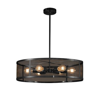 Bennett 6-Light Drum Pendant Finish: Matte Black