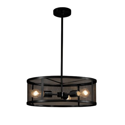 Bennett 3-Light Drum Pendant Finish: Matte Black