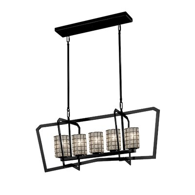 Bennett Intersecting 5-Light Kitchen Island Pendant Finish: Matte Black
