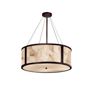 Clapp 8-Light Drum Pendant Finish: Dark Bronze