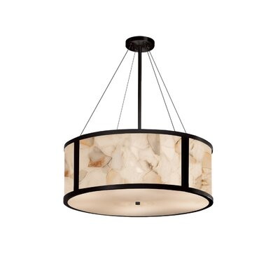 Clapp 8-Light Drum Pendant Finish: Matte Black