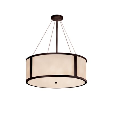 Kirkbride 8-Light Drum Pendant Finish: Dark Bronze, Size: 12 H x 36 W x 36 D