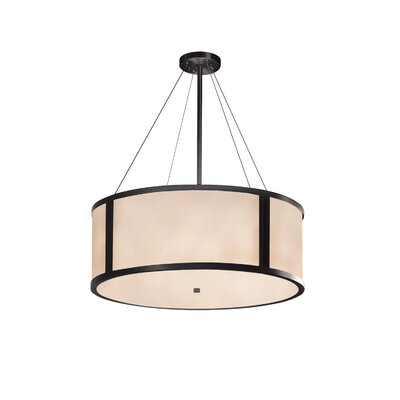 Kirkbride 8-Light Drum Pendant Finish: Matte Black, Size: 12 H x 36 W x 36 D