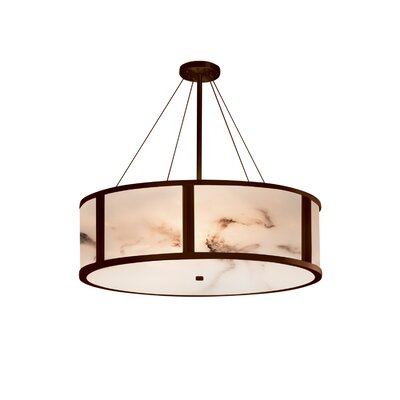 Clapper 8-Light Drum Pendant Finish: Dark Bronze, Size: 15 H x 48 W x 48 D