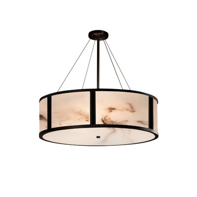 Clapper 8-Light Drum Pendant Finish: Matte Black, Size: 15 H x 48 W x 48 D