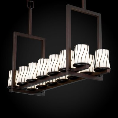 Justice Design Group Wire Glass Dakota 3 Light Straight Bar Bath Vanity Light - Shade Pattern: Grid with Clear Bubbles, Finish: Matte Black at Sears.com