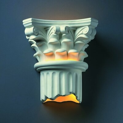 Justice Design Group Ambiance Open Bottom Corinthian Column Outdoor Wall Sconce - Finish: Real Rust at Sears.com
