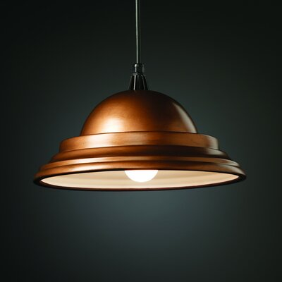 Radiance 1 Light Pendant Finish: Antique Gold, Cord Option: Black Cord