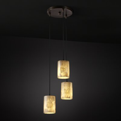 Salsbury Modern 3 Light Metal Pendant Finish: Matte Black