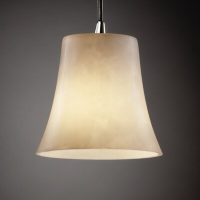 Jacinto 1-Light Metal Mini Pendant Finish: Matte Black