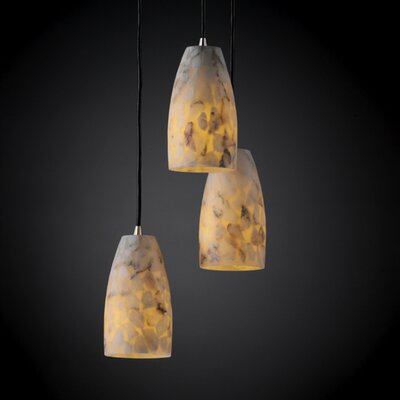 Salsbury 3 Light Metal Pendant Finish: Brushed Nickel