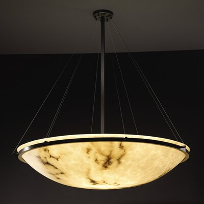 Keyon 8-Light Inverted Pendant Metal Finish: Matte Black, Size: 48 H