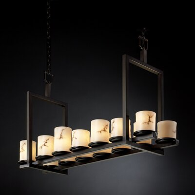Keyon 14-Light Drum Pendant Metal Finish: Dark Bronze