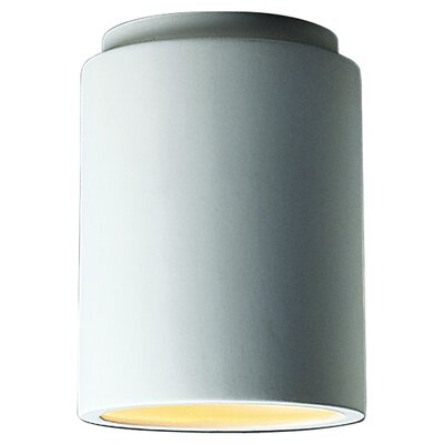 Radiance Cylinder Flush Mount Finish: Antique Gold