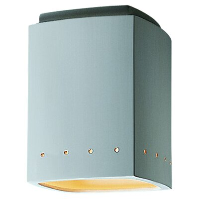 Radiance 1 Light Flush Mount Finish: Tierra Red Slate