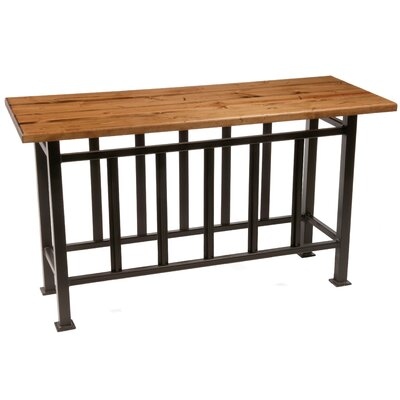 Cheap Stone Country Ironworks Mission Console Table in Distressed Pine (SIW1079)