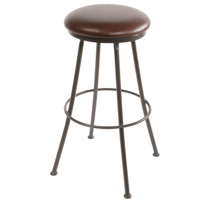 25 Swivel Bar Stool Upholstery: Black