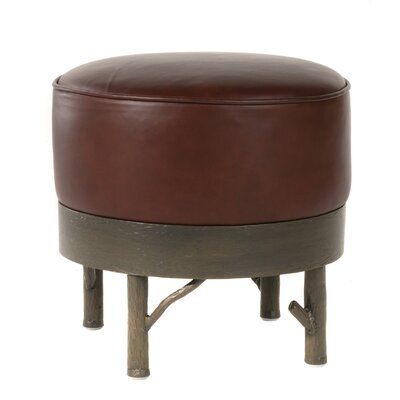 Norfork Leather Ottoman