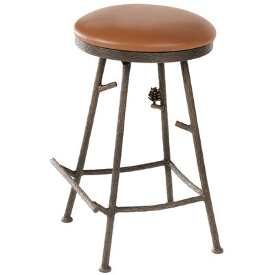 Pine 25 inch Swivel Bar Stool