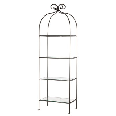 Scroll Tier Double Width Standing Shelf Accent Shelves Bookcase 573 Product Picture