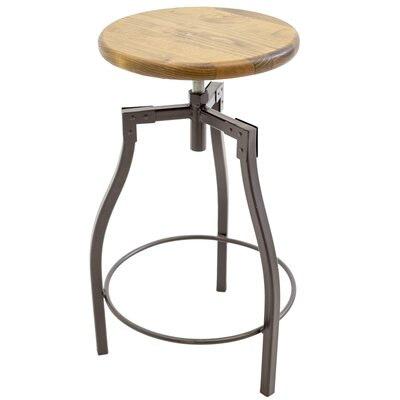Cardiff Adjustable Height Swivel Bar Stool