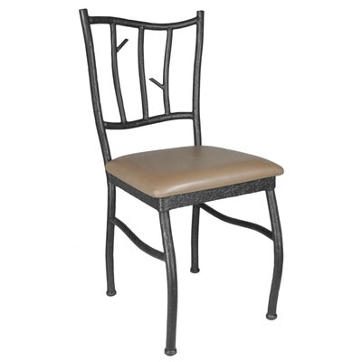 Woodland Genuine Leather Upholstered Dining Chair