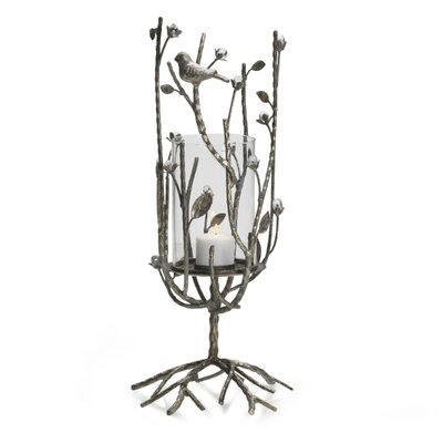Mikasa Gilded Twigs Metal and Glass Hurricane 5116669