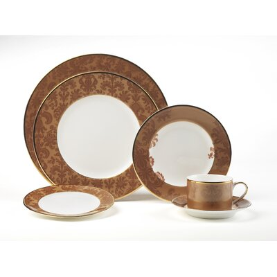 Damask Copper 5 Piece Place Setting