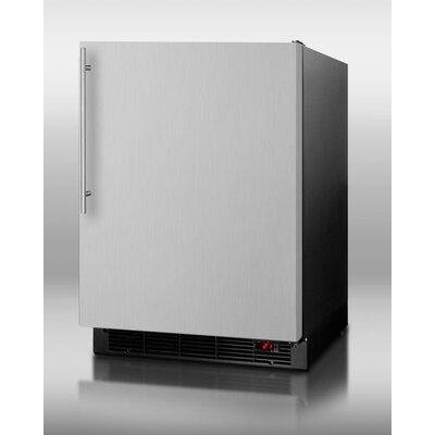 Summit Appliance 6.1 Cu. Ft. Refrigerator with freezer - Door Panel: Stainless Steel