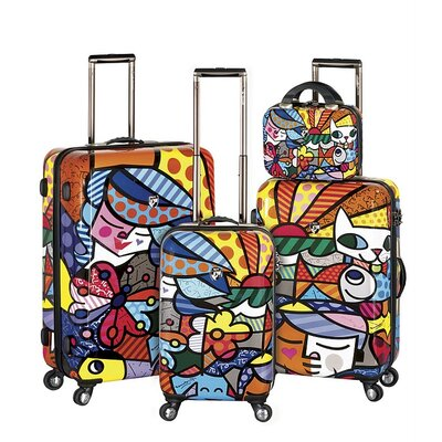 Britto Collection By Heys USA 4 Piece Spinner Luggage Set - Pattern: Garden at Sears.com
