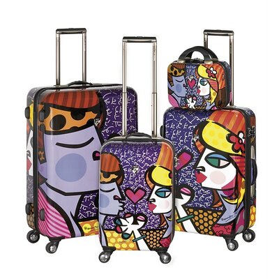 Britto Collection By Heys USA 4 Piece Spinner Luggage Set - Pattern: Couple at Sears.com