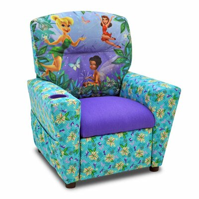Disney's Fairies Kids Recliner with Cup Holder 1300-1-DFAIR