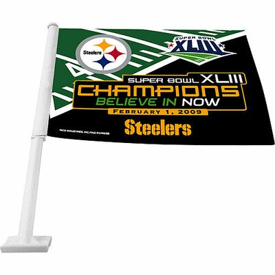 Super Bowl XLV Car Flag RPSB43PITCFL