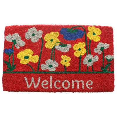 Poppies Welcome Doormat