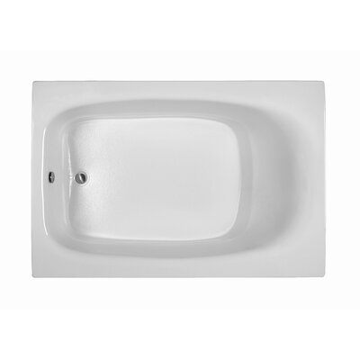 Rectangle 71.25 x 47.25  Soaking Bathtub Finish: White