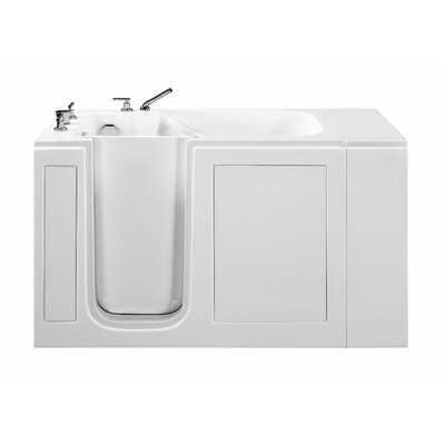 51.5 x 37.5 Walk In Whirlpool Bathtub Finish: White